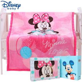 迪士尼婴儿毛毯新生儿毯子宝宝空调被 云毯夏凉被四季通用小被子