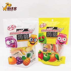 泰国进口StarSun蒟蒻果冻综合果味可吸果冻210g    草莓味混合/葡萄味混合