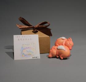 雕塑摆件《团圆-梦猪车载香薰》钱方舟6.5×7.5×2cm