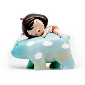潮玩手办《白夜童话-暖熊·绮梦-Lite-彩虹蓝》贾晓鸥 7×4×8cm