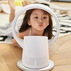 [触碰更安全]日本SK无叶风扇循环扇 折叠遥控 台挂两用  柔风低噪 电风扇