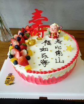 祝寿蛋糕寿星奶奶