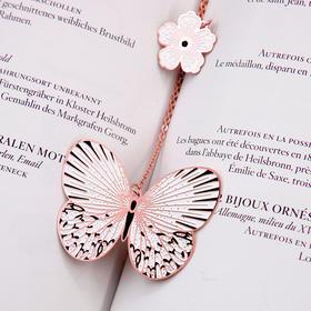 手心里 蝴蝶金属书签