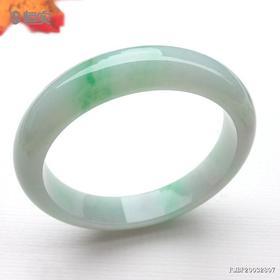 62.1mm糯冰种飘绿翡翠手镯