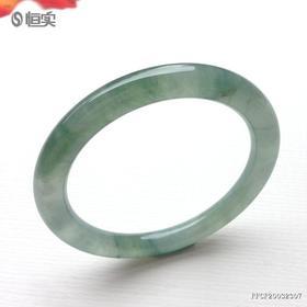 52.6mm糯冰种飘花翡翠手镯