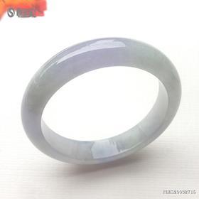 57mm糯冰种紫罗兰翡翠手镯