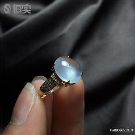 G18K冰种蛋面翡翠戒指