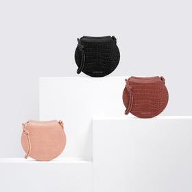 【为思礼】2020春夏新潮流  CHARLES&KEITH 纯色女士单肩马鞍包 时尚百搭