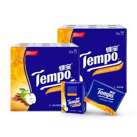 Tempo得宝手帕纸苹果木味4层24包 纸巾小包便携装手帕纸餐巾纸