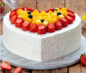 水果多多爱心蛋糕