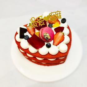 母亲节红丝绒裸蛋糕
