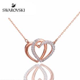 【为思礼】Swarovski施华洛世奇 心心相印 心相印锁骨链简约 时尚闪耀 简约大方