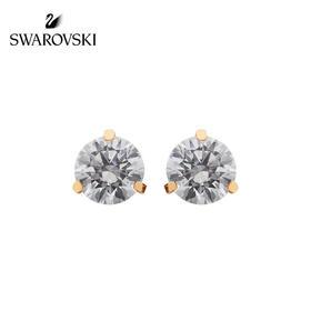 【为思礼】Swarovski施华洛世奇 SOLITAIRE系列 单钻耳钉 水晶般质感 女耳钉送女友礼物