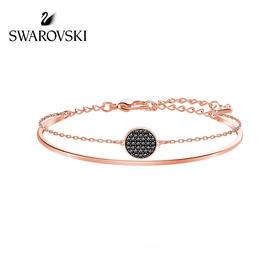 【为思礼】Swarovski施华洛世奇 GINGER系列 球拍手镯 时尚层次 二合一 女手链送女友礼物