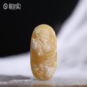 白花蜜【财神爷】雕刻件
