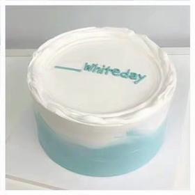 蓝色简约蛋糕两款