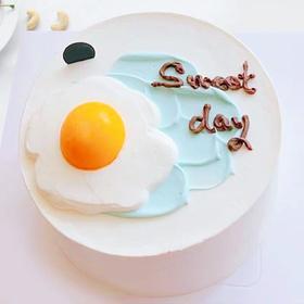 煎鸡蛋生日蛋糕