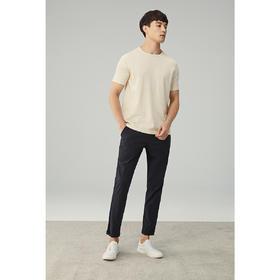 墨麦客男装2020春夏季新款圆领针织短袖T恤男士修身打底体恤衫男7777