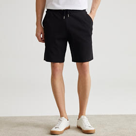 墨麦客男装2020夏季薄款短裤男运动黑色五分裤抽绳裤子宽松潮9230