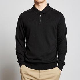 墨麦客男装2020春季新款长袖T恤男插肩袖男士纯色翻领POLO衫2331