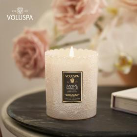 VOLUSPA 山茶花系列精油蕾丝杯蜡 情人节仪式感好物 居家气氛礼品礼物