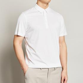 墨麦客男装夏季新款男士翻领桑蚕丝T恤男短袖宽松纯色Polo衫7361
