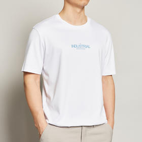 墨麦客男装2020夏季新款圆领短袖t恤男士字母印花纯棉体恤衫7368