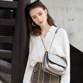 日本mars sharing小众邮差包菱格单肩褶皱斜跨流浪包 时尚多色