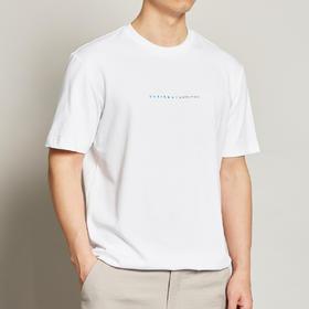 墨麦客男装2020夏季新款圆领字母印花短袖t恤男士纯棉体恤衫7366