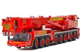 利勃海尔WSI Liebherr LTM1350 REZAYAT SPARROW涂装红黄起重机模型车模1:50