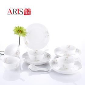 ARIS爱依瑞斯陶瓷餐具套装AS-D2201H|润叶小清新朵花唐山陶瓷【日用家居】