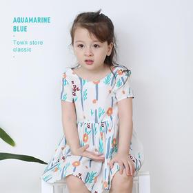 【团】fx-nm-咕噜日记夏款儿童满印童趣图案公主裙XGQ002