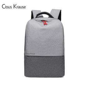 ClousKrause轻时尚商务双肩包灰色|简约轻时尚   商务休闲【日用家居】
