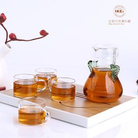 一柯耐热玻璃茶具YK-C601A玻璃茶具套装|耐热玻璃  旅游便携带【日用家居】