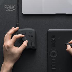 TourBox 软件控制器 快捷键 修图专用 Adobe 美工编辑 辅助键盘 PS 调色 数位板