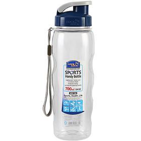 乐扣乐扣运动水杯塑料壶700ml/个|便携式大容量防漏塑料透明HPP722【日用家居】