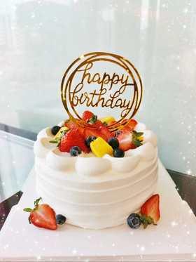 Happy birthday 水果蛋糕