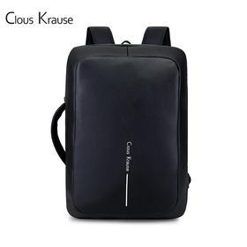 ClousKrause轻时尚商务双肩包黑色|简约轻时尚   商务休闲【日用家居】