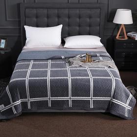 JDMT020多功能毛毯盖毯-经典大格180*200|优质面料  静享好睡眠【日用家居】