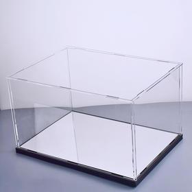 透明亚克力手办车模型展示盒摆件收纳防尘罩一体式拼接