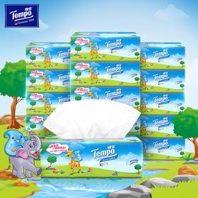 Tempo得宝软抽纸巾婴儿专用4层加厚90抽18包整箱装纸巾