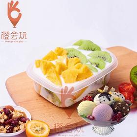 【冰淇淋果捞】凤梨+奇异果混合水果捞