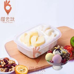 【冰淇淋果捞】苹果+梨混合水果捞