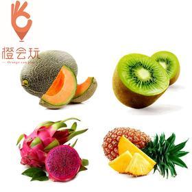 【四拼】凤梨+奇异果+火龙果+哈密瓜  450g