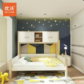 全实木进口白蜡木储物儿童床上下床木蜡油儿童房原木家具2020新款