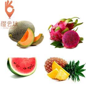 【四拼】火龙果+凤梨+西瓜+哈密瓜  450g