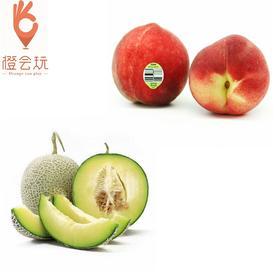 【双拼】网纹瓜+澳洲水蜜桃 250g