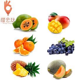 【六拼】葡萄+木瓜+芒果+橙子+凤梨+哈密瓜 1000g
