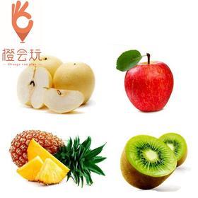 【四拼】凤梨+奇异果+梨+苹果 450g