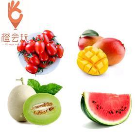 【四拼】网纹瓜+圣女果+芒果+西瓜 450g
